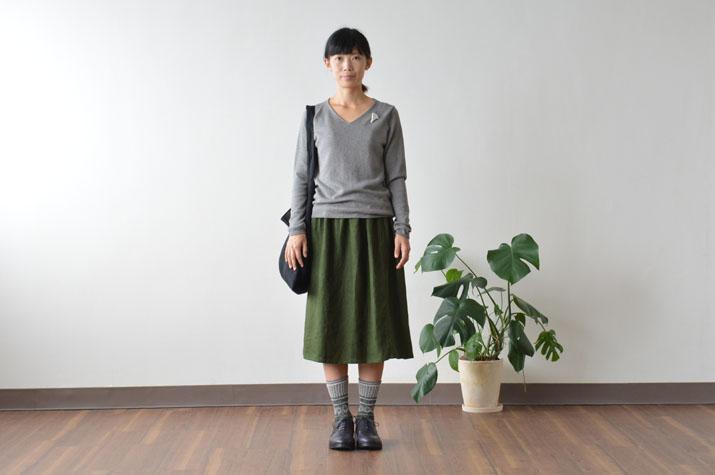 アネリギャザースカート