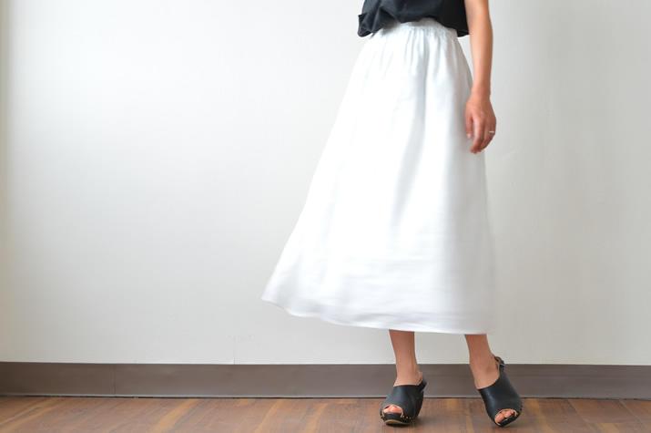 ダブルリネンロングスカート