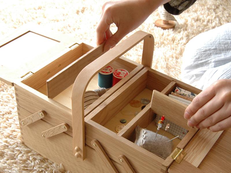 倉敷意匠 ならのソーイングボックス 裁縫箱 仕切り