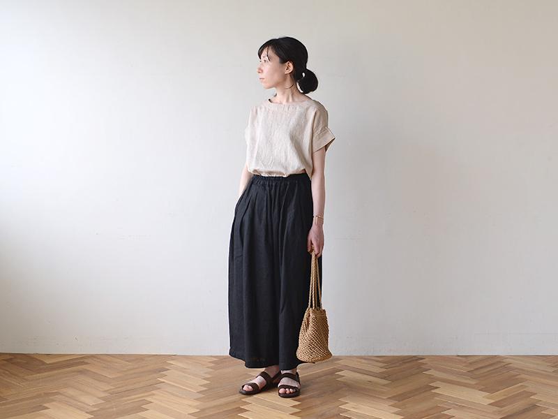 【2020夏物】 fog linen work(フォグリネンワーク)ナディア トップ イヴォワール