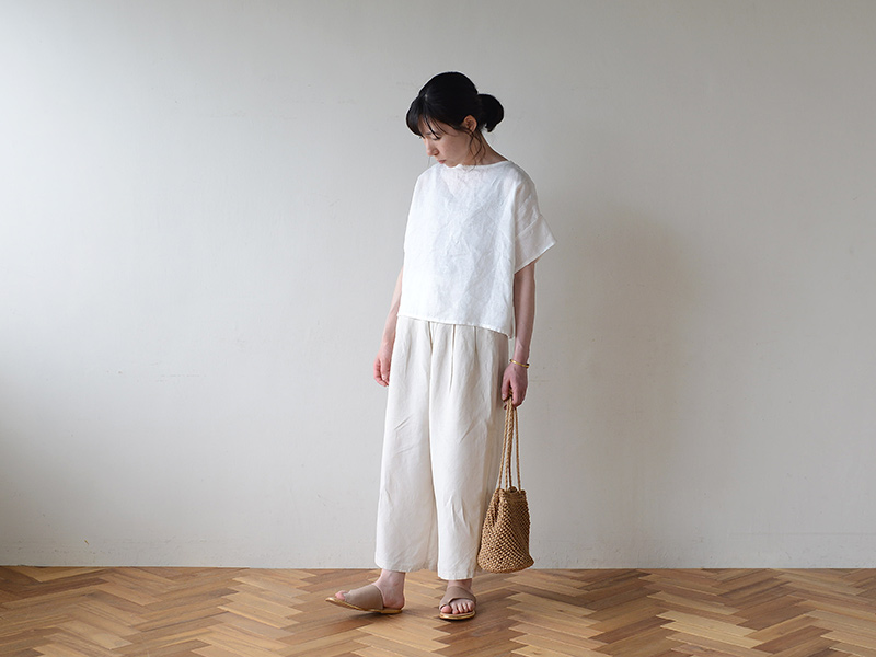 【2020夏物】 fog linen work(フォグリネンワーク)ミレーラ トップ ホワイト