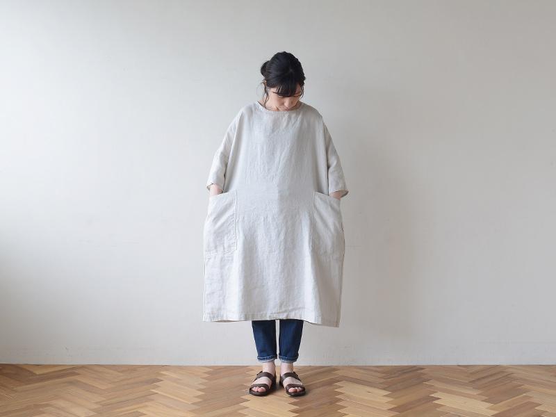 【2020夏物】 fog linen work(フォグリネンワーク)イレーネ ワンピース アルバートル
